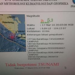 BREAKING NEWS: BMKG Sebut Gempa Tanggamus Tidak Berpotensi Tsunami