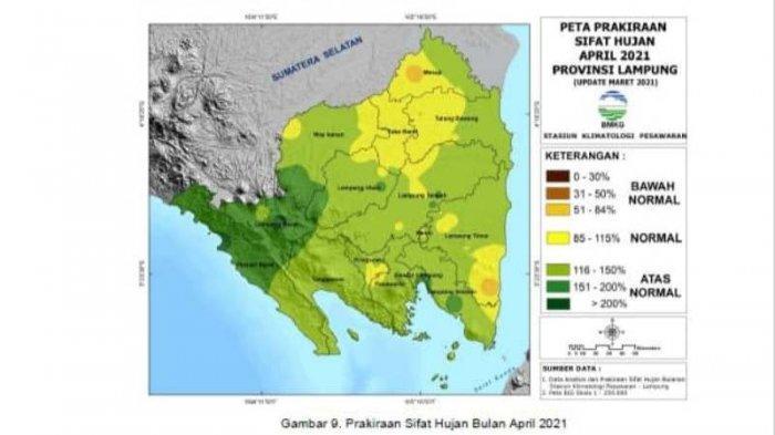 BMKG: Waspada Cuaca Ekstrem Angin Kencang hingga Tanah Longsor di Wilayah Lampung Bagian Tengah