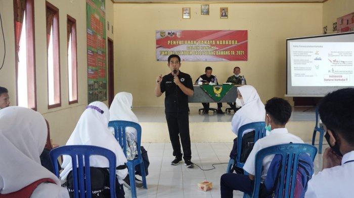 BNN Sosialisasi Bahaya Narkoba kepada Siswa di Tulangbawang Lampung