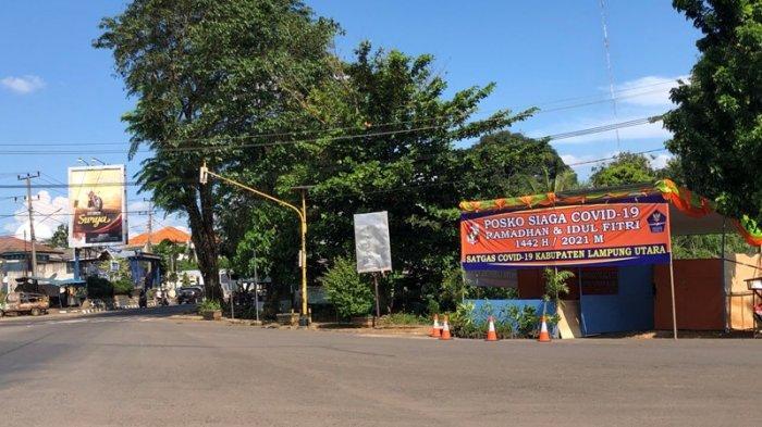BPBD Lampung Utara Dirikan Posko Siaga Covid-19 di Bundaran Tugu Alamsyah Ratuperwira Negara