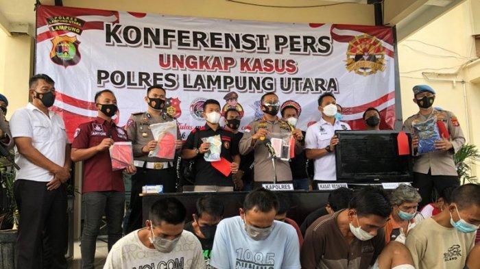 BREAKING NEWS 13 Tersangka Tindak Kejahatan Diamankan Polres Lampung Utara