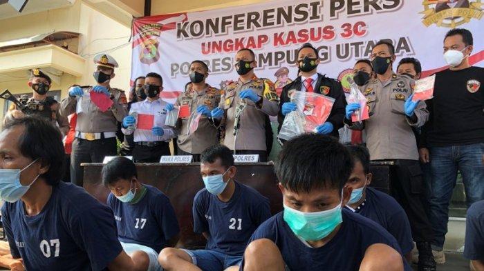 BREAKING NEWS 2 Pekan Polisi di Lampung Utara Amankan 9 Tersangka 3C dan Penganiayaan Berat
