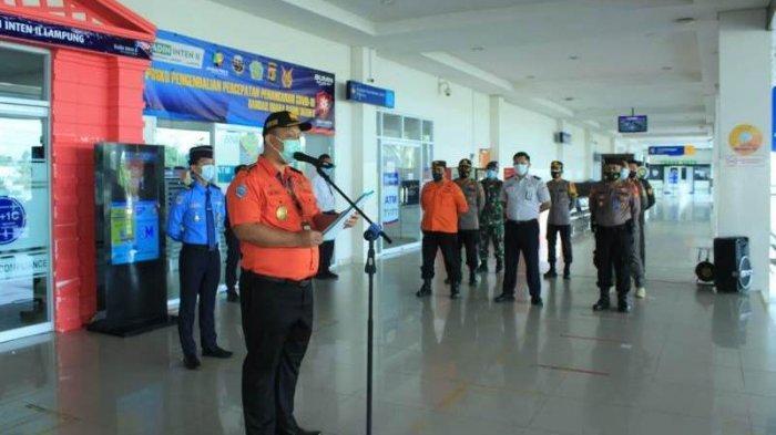 Apel persiapan larangan mudik 6-17 Mei 2021, Kamis (6/5/2021). BREAKING NEWS Bandara Radin Inten II Lampung Gelar Apel Persiapan Larangan Mudik Lebaran