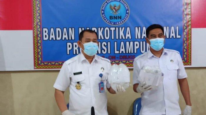 BNNP Lampung Kuntit Bus ALS Pembawa Sabu 4 Kg hingga ke Pul di Bandung