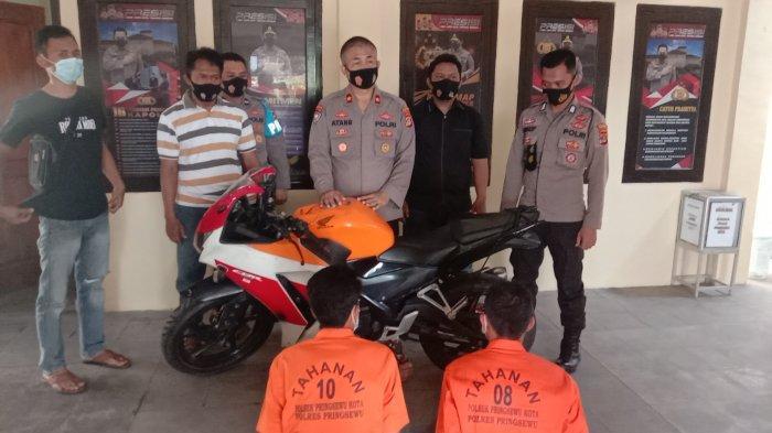 Motor Honda CBR Curian di Talang Indah Pringsewu Sudah Diubah