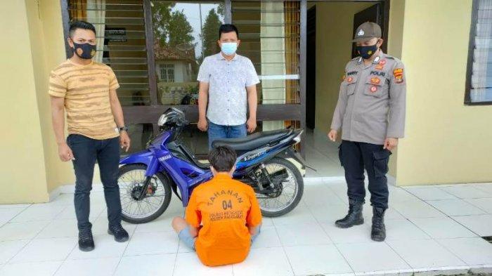 BREAKING NEWS Ditinggal Beli Rokok di Warung, Motor Warga Pringsewu Raib Digondol Maling