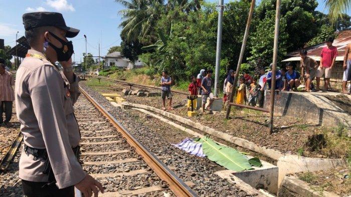 BREAKING NEWS Kecelakaan di Lampung Utara, Seorang Pria Tewas Tertabrak Kereta Api Kuala Stabas