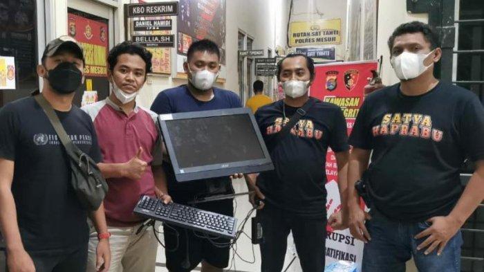 BREAKING NEWS Pelaku Pencurian Komputer di SMAN 1 Mesuji Berhasil Diringkus Polisi