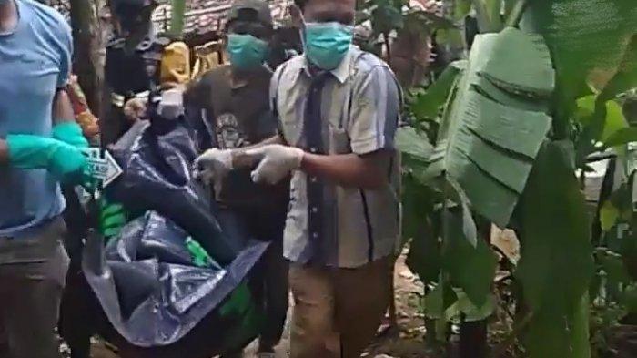 Jenazah Slamet dievakuasi kepolisian dan pihak medis. Peristiwa pemuda penggal leher ayah tersebut sempat menggegerkan warga di Kampung Sendang Rejo, Kecamatan Sendang Agung, Lampung Tengah, terjadi Senin (22/3/2021) sekira pukul 14.00 WIB.