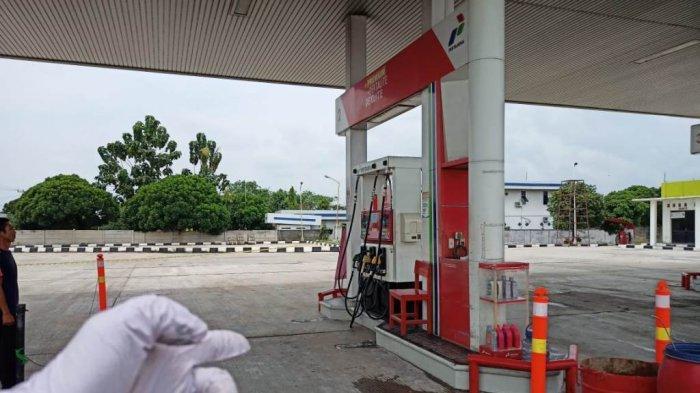 BREAKING NEWS Motor Terbakar di SPBU Tuba Lampung, Api Dipicu saat Motor Isi Premium