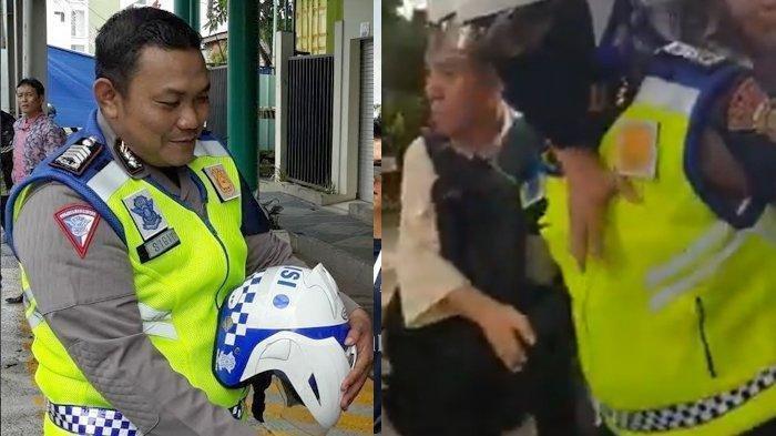 Viral Aksi Bripka Sigit Jalan Kaki 200 Meter Gendong Pasien Jantung ke Rumah Sakit