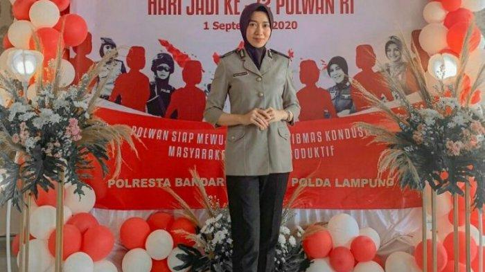 Alumni PTS Terbaik di Lampung Teknokrat Briptu Rina Widiastuti, Polwan dengan Banyak Prestasi