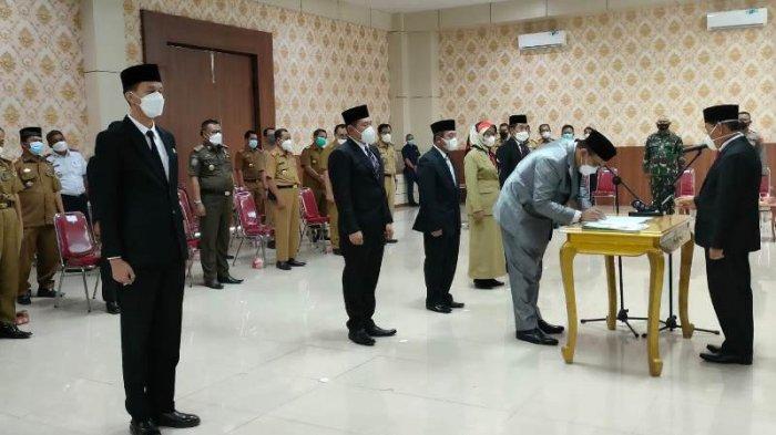 Pelantikan Pejabat Eselon II di Mesuji Lampung, Bupati Saply Akan Evaluasi Pejabat Kurang Cakap
