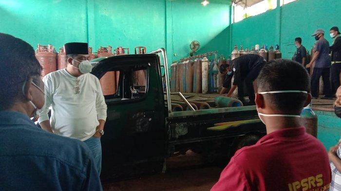 Stok Menipis, Musa Ahmad Sidak ke Perusahaan Penyedia Oksigendi Lamteng