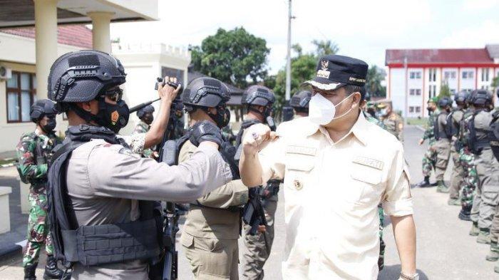 Tim Pengamanan Simulasi Pengamanan Atlet Asal Lampung yang Akan Bertarung di Papua