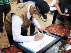 Pembangunan Bendungan Way Sekampung Pringsewu Lampung Rampung 98 Persen