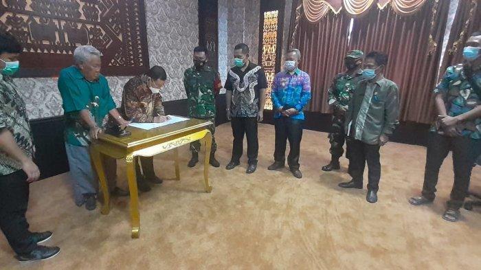 Bupati Saply TH dan Tokoh Masyarakat Setujui Hibah Tanah Lokasi TMMD di Lampung