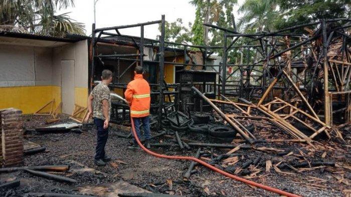 Kebakaran Kafe Epipani di Lampung Selatan, Kerugian Puluhan Juta