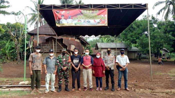 Camat Abung Tengah Pantau Posko Desa Satgas Covid-19