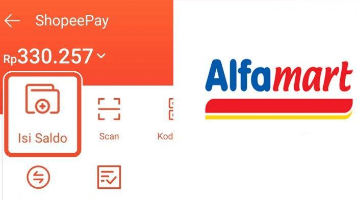 Ilustrasi. cara top up ShopeePay via Alfamart.
