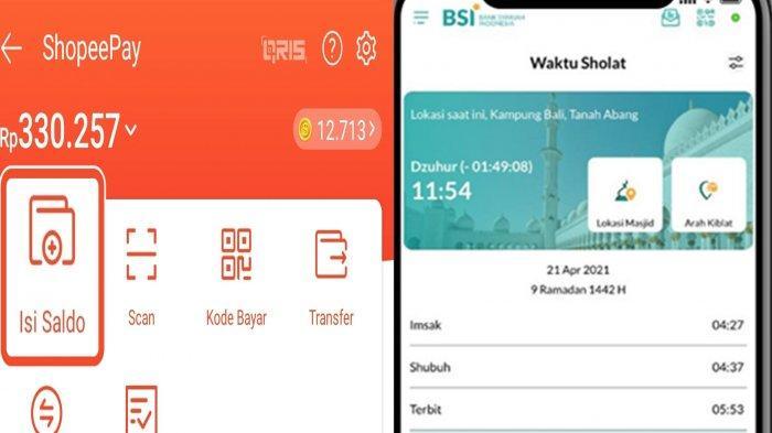 Ilustrasi. Cara Top Up ShopeePay Via Bank Syariah Indonesia.