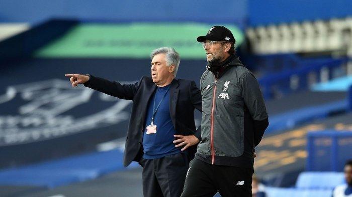 Hasil Everton vs Liverpool Sabtu 17 Oktober 2020, Ajang Pembuktian Carlo Ancelotti vs Juergen Klopp