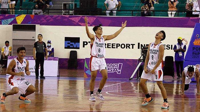 Catat Sejarah Baru, Tim Basket Putra Sulawesi Utara Tembus Final PON XX Papua 2021