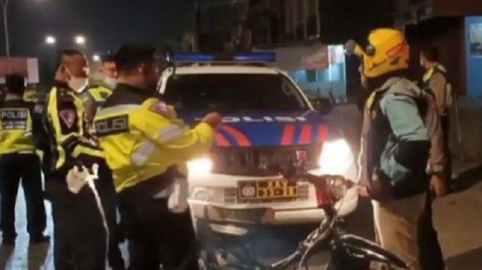 Cegah Balap Liar, Polresta Bandar Lampung Bubarkan Anak Muda Nongkrong Pinggir Jalan