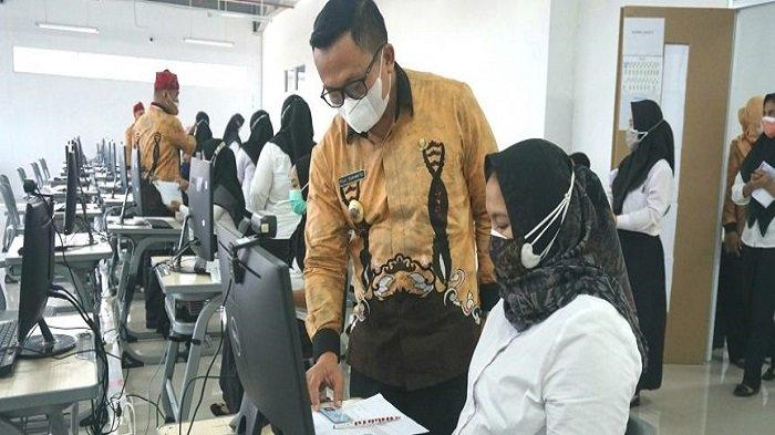 Cerita Ibu Hamil yang Ikut Tes SKD CPNS di Lampung Selatan, 'Tak Perlu Ikut Antre'
