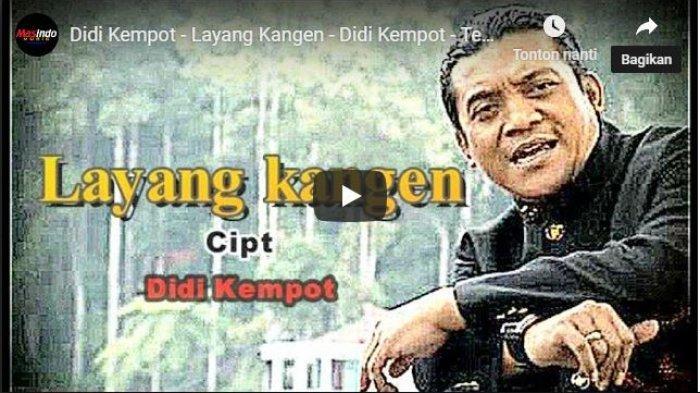 Chord Gitar Lagu Layang Kangen, Kunci Gitar dan Lirik Lagu Didi Kempot
