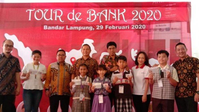 CIMB Niaga Lampung Gelar Tour the Bank 2020, Tumbuhkan Kesadaran Menabung ke Siswa SD