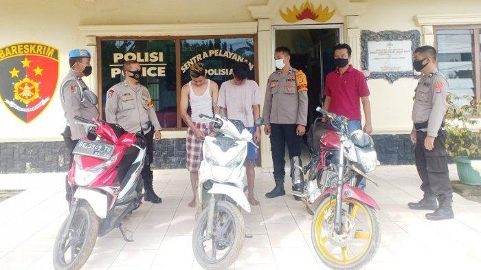 Pelaku Curanmor di Banjar Agung Tulangbawang, Sudah Terjatuh, Tertangkap Pula