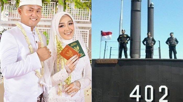 Postingan Pilu Istri Kru KRI Nanggala 402 Lebaran Tanpa Suami, Selfie dengan Pigura