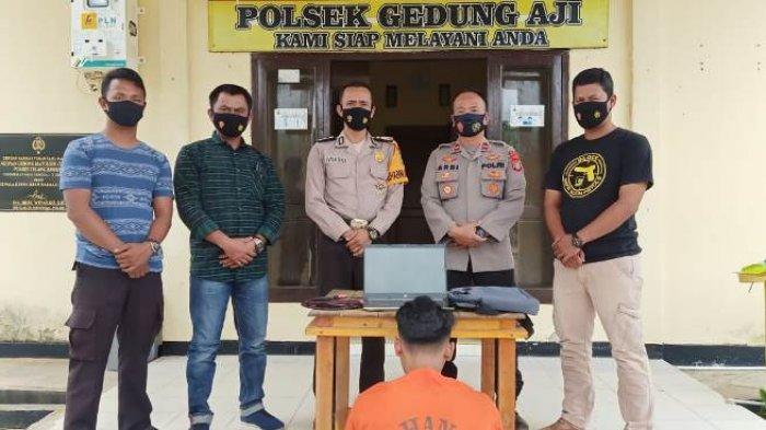 Curi Laptop di Kantor Kecamatan, Pemuda Pengangguran di Gedung Aji Dibui Polisi