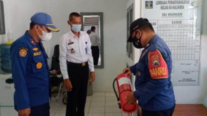 Damkar Lampung Selatan Cek Sistem Proteksi Kebakaran di Lapas Kelas IIA Kalianda