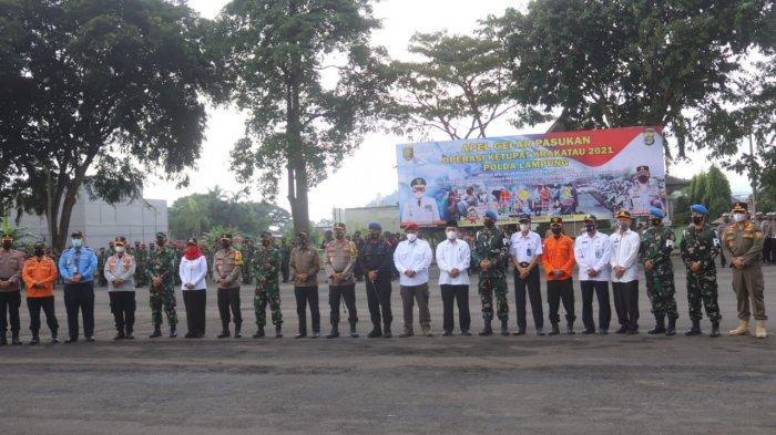 Dandim 0410/KBL Hadiri Apel Pasukan Operasi Ketupat Krakatau 2021 Polda Lampung