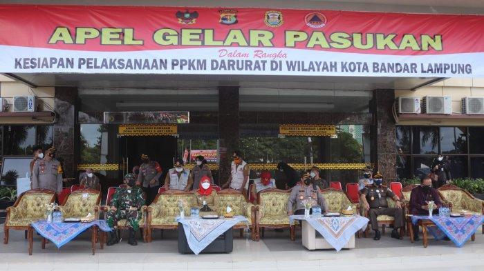 PPKM Darurat Kota, Romas Herlandes Hadiri Apel Pasukan Gabungan TNI, Polri dan Pemkot