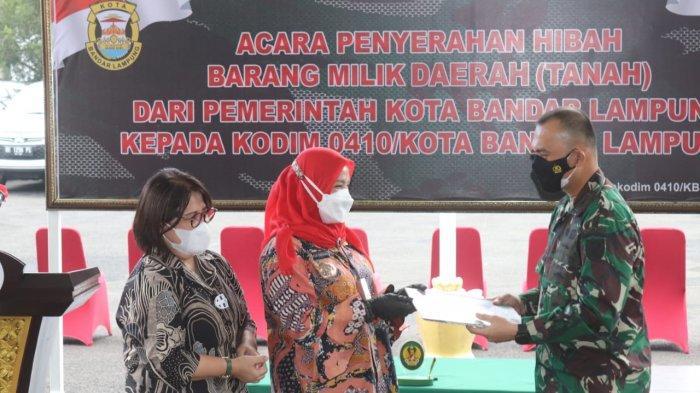 Komandan Kodim 0410/KBL Terima Hibah Tanah dari Pemerintah Kota Bandar Lampung