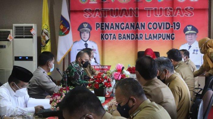 Dandim 0410/KBL Kolonel Inf Romas Herlandes Hadiri Rakor Ibadah Ramadhan dan Idul Fitri 1442 H