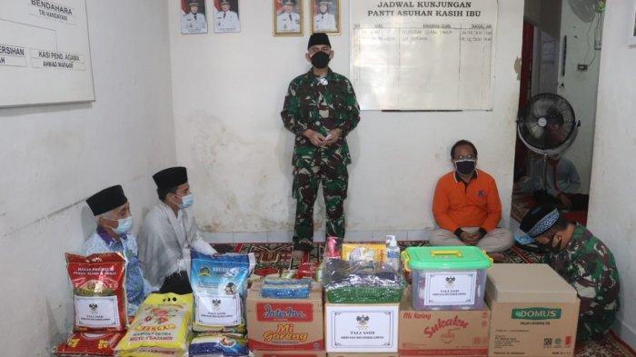 Jumat Peduli, Komandan Kodim 0410 Bandar Lampung Kunjungi Panti Asuhan Kasih Ibu Wayhalim