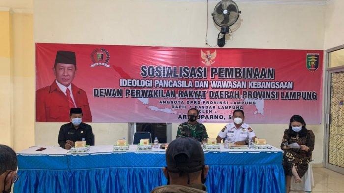 Danramil 410-04/TKT Mayor Inf Sutoto Beri Materi Ideologi Pancasila dan Wawasan Kebangsaan