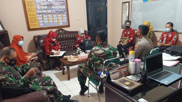 Danramil 410-04/TKT Hadiri Rakor Pelaksanaan Vaksinasi di Wilayah Sukarame
