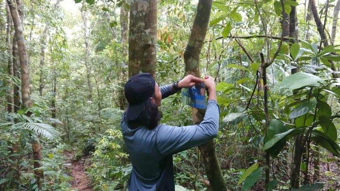 Empat Mahasiswa IIB Darmajaya Bersihkan Sampah di Gunung Ratai Pesawaran