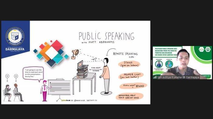 Dosen IIB Darmajaya Pembicara Workshop 'Public Speaking' di UIN Lampung