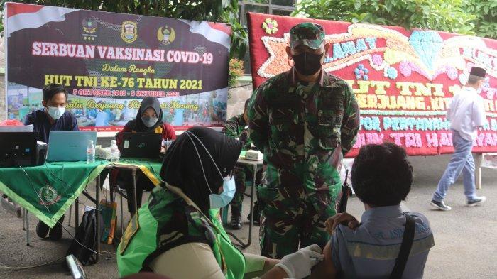 Dukung Program Pemerintah, Komando Distrik Militer 0410 Rutin Gelar Vaksin Covid Bagi Maryarakat