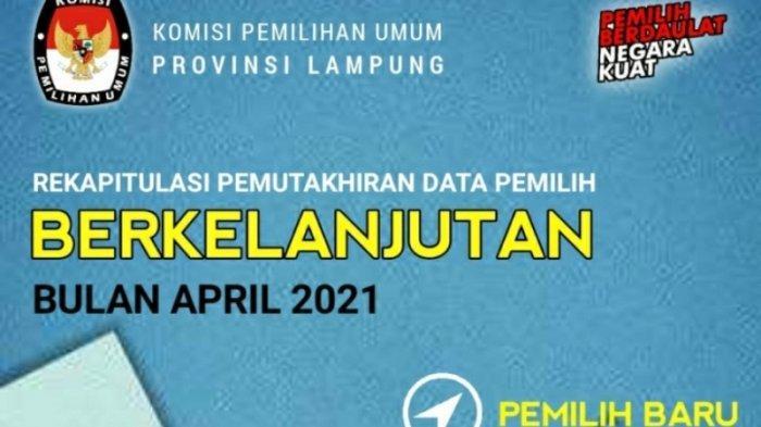 Data Pemilih Berkelanjutan se-Lampung Sebanyak 5.972.307