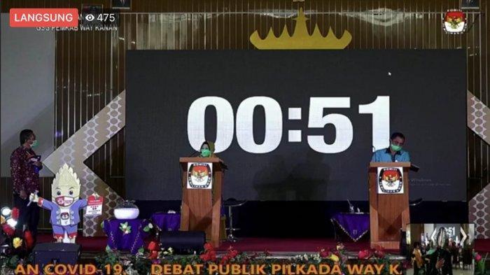 Debat Kedua Pilkada Way Kanan 2020, Rina Marlina Soroti Kenaikan PBB, Ali Rahman Tupoksi Wabup