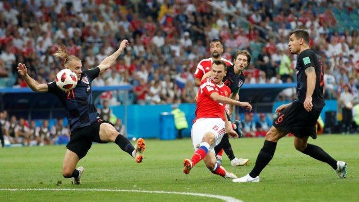 Babak I, Rusia vs Kroasia 1-1