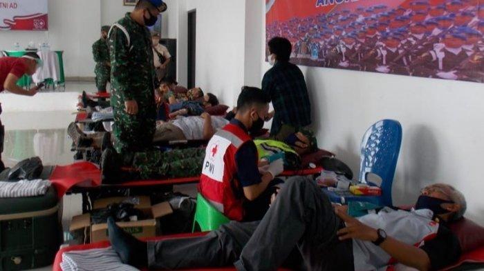 Denpom II/3 Lampung Gelar Donor Darah Dalam Rangka HUT Ke-74 Polisi Militer Angkatan Darat