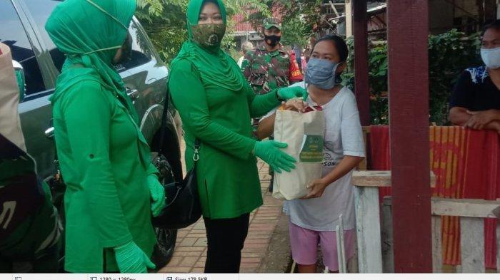 Keluarga Pasien Positif Covid -19 di Lambu Kibang Tubaba Dibantu Sembako